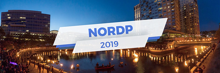 NORDP 2019 with photo of buildings in Providence